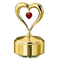 MUSICAL BASE WITH HEART 24K GOLD PLATED GIFT