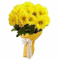 Yellow Mums Bouquet