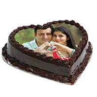 Heartshape chocolate photo cake 1 kG