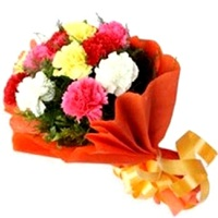 Flowers Bouquet Mixed Carnations