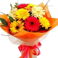 Elegant Flowers Bouquet of Gerbera