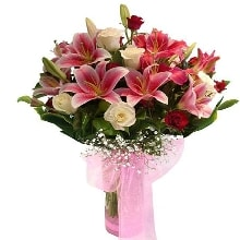 15 Mix Seasonal Flower Flowers Bouquet