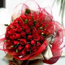 Exotic Red Rose Bouquet