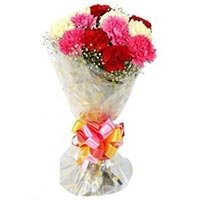 8 mix carnations bouquet
