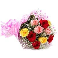 10 mix roses bouquet