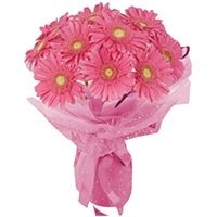 Pink Gerbera Flowers Bouquet