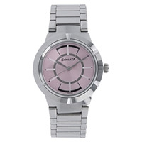 Sonata Pink Dial Womens Analog Watch-8138SM02