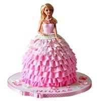Burby Doll Pink Cake