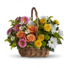 Basket of 15 Mix Flowers
